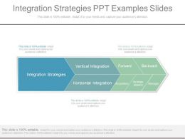 Integration Strategies Ppt Examples Slides