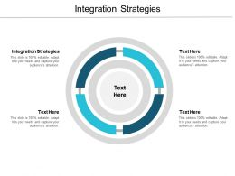 Integration Strategies Ppt Powerpoint Presentation Pictures Cpb
