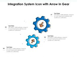 Integration System Icon With Arrow In Gear