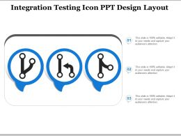 Integration Testing Icon Ppt Design Layout