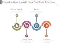 Integrative Sales Example Powerpoint Slide Background