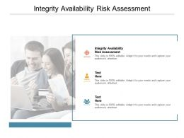 Integrity Availability Risk Assessment Ppt Powerpoint Presentation Portfolio Template Cpb