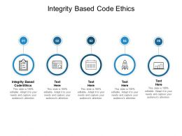 Integrity Based Code Ethics Ppt Powerpoint Presentation Pictures Graphics Cpb