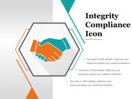 Integrity Compliance Icon Powerpoint Themes