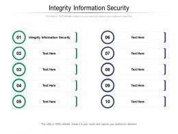 Integrity Information Security Ppt Powerpoint Presentation Show Brochure Cpb
