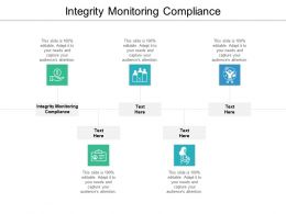 Integrity Monitoring Compliance Ppt Powerpoint Presentation Inspiration Graphics Cpb