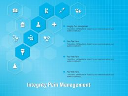 Integrity Pain Management Ppt Powerpoint Presentation Infographic Template Design