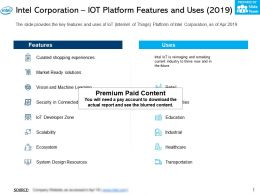 Intel Corporation Iot Platform Features And Uses 2019