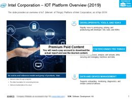 Intel Corporation Iot Platform Overview 2019