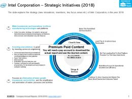 Intel Corporation Strategic Initiatives 2018