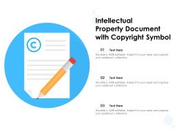 Intellectual Property Document With Copyright Symbol