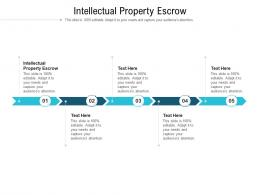 Intellectual Property Escrow Ppt Powerpoint Presentation Slides Professional Cpb