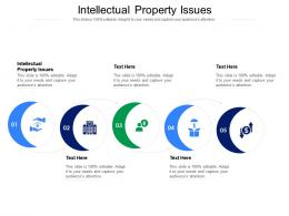 Intellectual Property Issues Ppt Powerpoint Presentation Gallery Slides Cpb