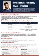 Intellectual Property NDA Template Presentation Report Infographic PPT PDF Document