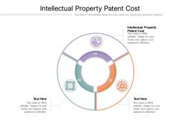 Intellectual Property Patent Cost Ppt Powerpoint Presentation Slides Guide Cpb