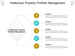 Intellectual Property Portfolio Management Ppt Powerpoint Presentation Slides Example Cpb