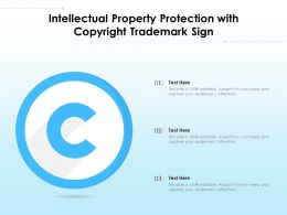 Intellectual Property Protection With Copyright Trademark Sign