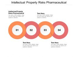 Intellectual Property Risks Pharmaceutical Ppt Powerpoint Presentation Show Elements Cpb