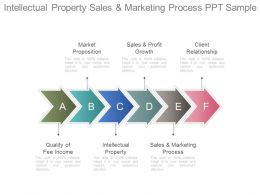 Intellectual Property Sales And Marketing Process Ppt Sample