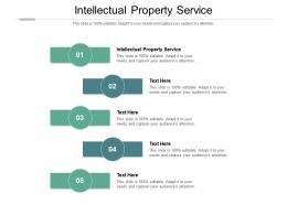 Intellectual Property Service Ppt Powerpoint Presentation Styles Slides Cpb
