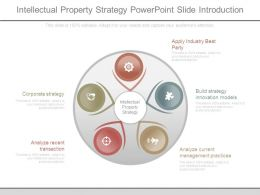 Intellectual Property Strategy Powerpoint Slide Introduction