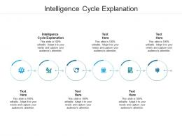Intelligence Cycle Explanation Ppt Powerpoint Presentation Slides Example Cpb
