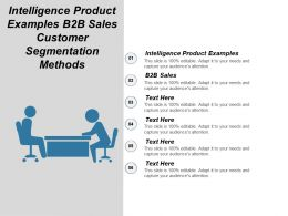 Intelligence Product Examples B2b Sales Customer Segmentation Methods Cpb
