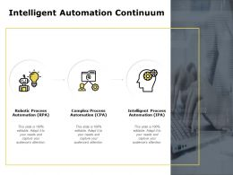 Intelligent Automation Continuum Process Automation Powerpoint Slides