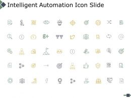 Intelligent Automation Icon Slide Ppt Powerpoint Presentation Gallery Tips
