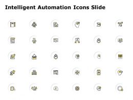 Intelligent Automation Icons Slide Checklist Powerpoint Presentation Pictures