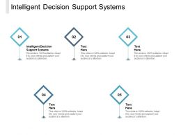 Intelligent Decision Support Systems Ppt Powerpoint Presentation Infographic Template Graphics Cpb