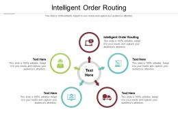 Intelligent Order Routing Ppt Powerpoint Presentation Model Styles Cpb