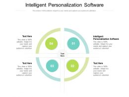 Intelligent Personalization Software Ppt Powerpoint Presentation Professional Outline Cpb