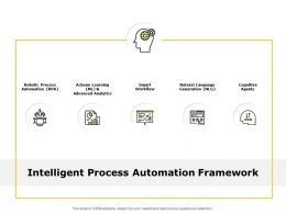 Intelligent Process Automation Framework Gears Ppt Powerpoint Slides