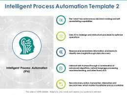 Intelligent Process Automation Ppt Visual Aids Background Images