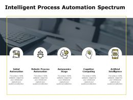 Intelligent Process Automation Spectrum Initial Automation Ppt Slides