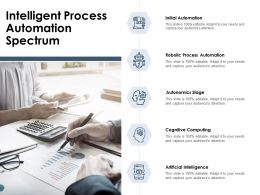 Intelligent Process Automation Spectrum Ppt Powerpoint Presentation File Model