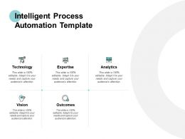 Intelligent Process Automation Template Analytics Expertise Ppt Powerpoint Presentation Portfolio