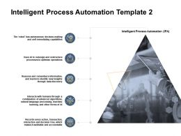 Intelligent Process Automation Template Humans Resouce Ppt Powerpoint Presentation File Vector