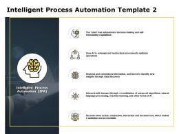 Intelligent Process Automation Template Knowledge Ppt Powerpoint Presentation Summary Brochure