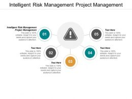 Intelligent Risk Management Project Management Ppt Powerpoint Presentation File Introduction Cpb