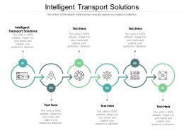 Intelligent Transport Solutions Ppt Powerpoint Presentation Outline Influencers Cpb