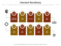 Intended Beneficiary Ppt Powerpoint Presentation Styles Elements Cpb