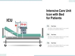 Intensive Care Unit Icon With Bed For Patients
