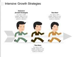 Intensive Growth Strategies Ppt Powerpoint Presentation Infographic Template Objects Cpb