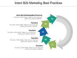 Intent B2B Marketing Best Practices Ppt Powerpoint Presentation Summary Design Ideas Cpb