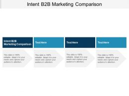 Intent B2B Marketing Comparison Ppt Powerpoint Presentation Styles Styles Cpb