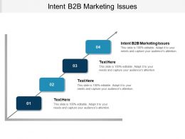 Intent B2B Marketing Issues Ppt Powerpoint Presentation Outline Shapes Cpb