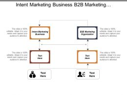 Intent Marketing Business B2b Marketing Organization Program Analyzer Cpb
