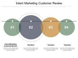 Intent Marketing Customer Review Ppt Powerpoint Presentation Gallery Slides Cpb
